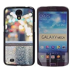Be Good Phone Accessory // Dura Cáscara cubierta Protectora Caso Carcasa Funda de Protección para Samsung Galaxy Mega 6.3 I9200 SGH-i527 // Lights City Nyc Traffic Cars