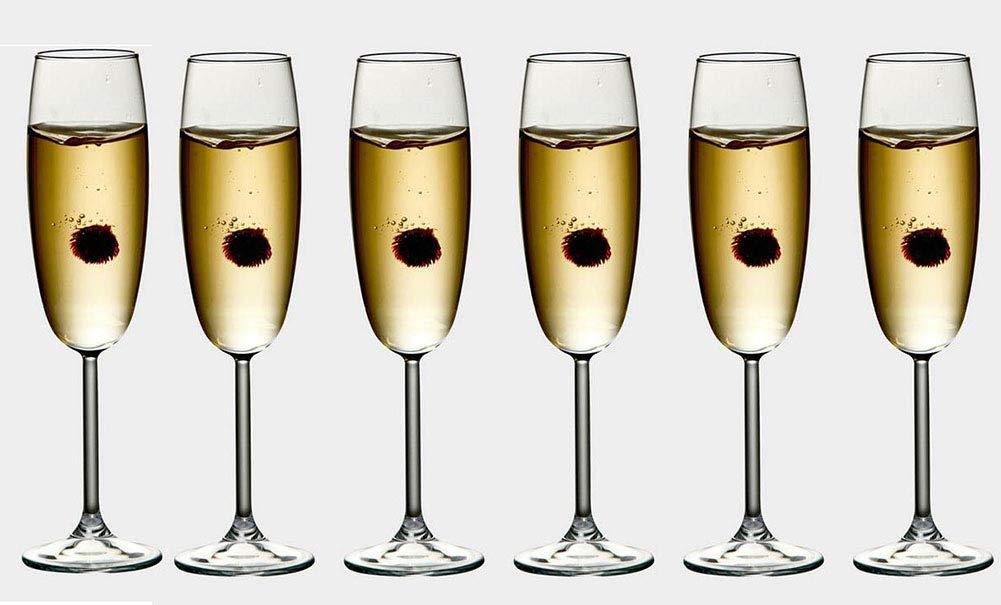 Kefbhefe Crystal Glass Champagne Glass, Sparkling Wine Glass, Goblet, Red Wine Glass, 220ML, 6-Piece Set