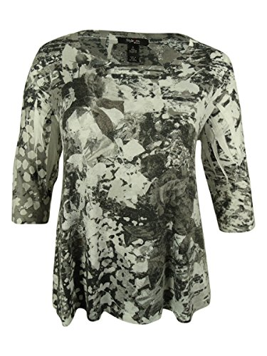 Style & Co. Women's Floral Print Swing Top (2X, Skins of (Style & Co Woman Floral Print Top)