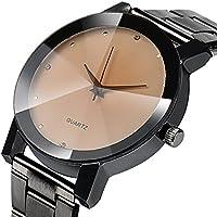Bokeley Watch for Men, Watch Luxury Quartz Crystal Sport Stainless Steel Wrist Watch Men (Black 2)