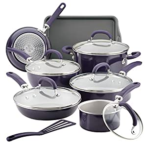 Rachael-Ray-12154-Create-Delicious-Nonstick-Cookware-Pots-and-Pans-Set-13-Piece-Purple-Shimmer