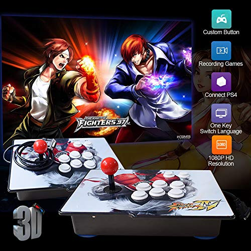 XFUNY Arcade Game Console 1080P 3D & 2D Games 2260 in 1 King of Fighters Pandora's Box 3D 2 Players Arcade Machine with Arcade Joystick Support Expand 6000+ Games for PC / Laptop / TV / PS4 (Player Kings)