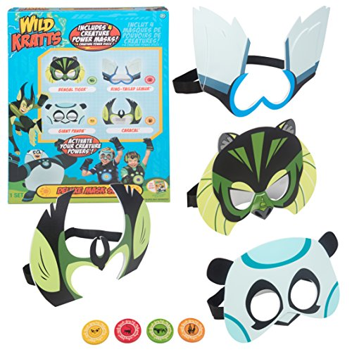 Wild Kratts Toys Power Suit Masks - Set of 4 with Creature Power - Creature Mask