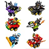 Aurookeb 07035 DC Superheroes Minifigures with War Chariot Blocks Toys Pack of 6