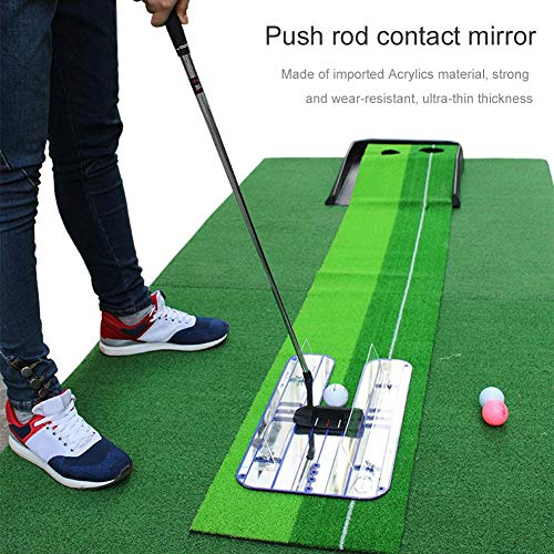 xiaokkiss Golf Putting Practice Putt Swing Alignment Trainer Putter Practice Mirror Golf Training Aid
