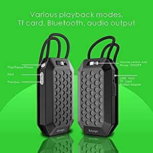 Gaoye Outdoor Sport Portable Wireless Bluetooth Speakers Bluetooth 4.2 With Waterproof IPX5,Powerful 5W Audio Driver,More Bass, Perfect Wireless Speaker for Home Travel Beach Shower Splashproof