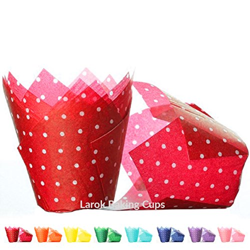 Tulip Cupcake Liners (Cherry) | 100 count