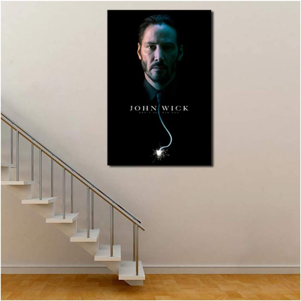 Amazon Com Xufan John Wick Keanu Reeves Hd Canvas Posters Prints Wall Art Painting Decorative Picture Modern Home Decoration 50x70cm No Frame Posters Prints