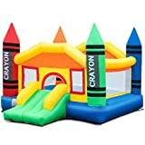 Costzon Inflatable Bounce House, Castle Jumper Slide Mesh Walls, Kids...