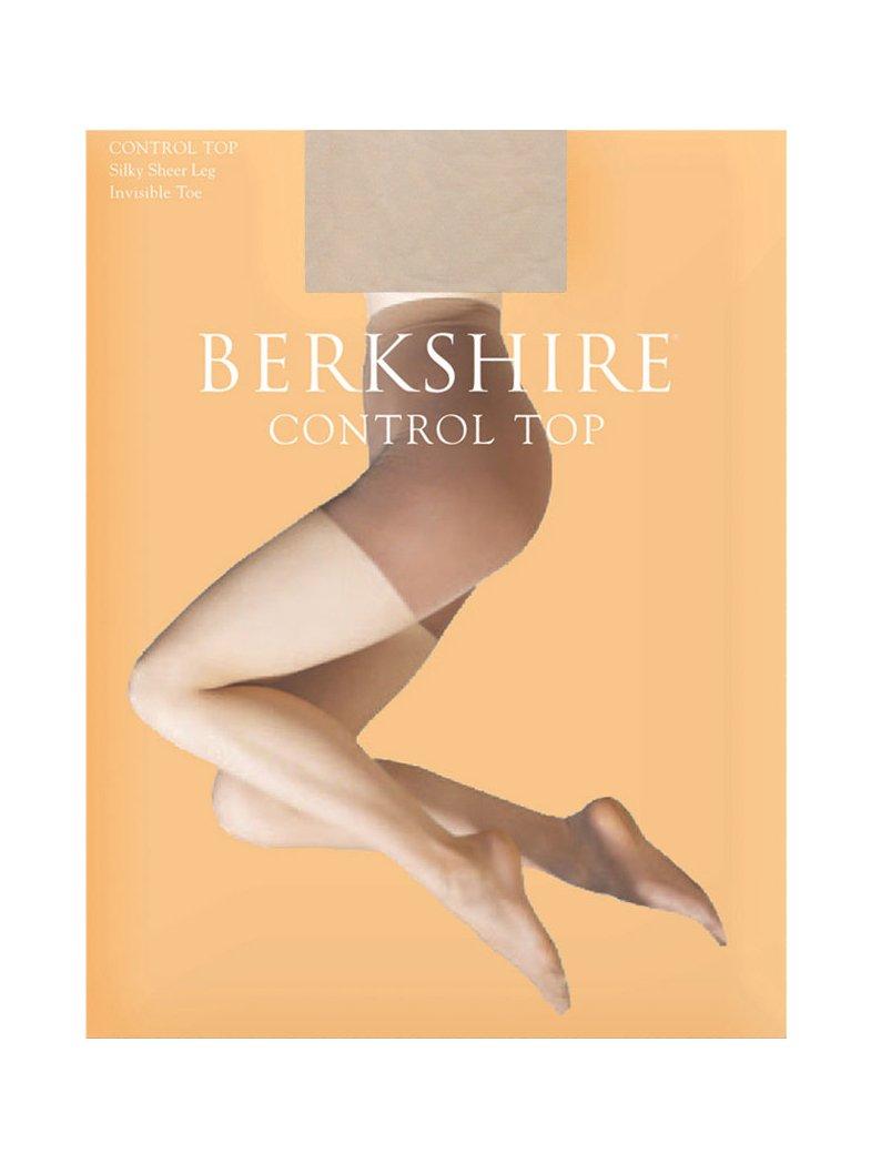 Berkshire Women's Silky Control Top Pantyhose - Sandalfoot, Linen, 2+