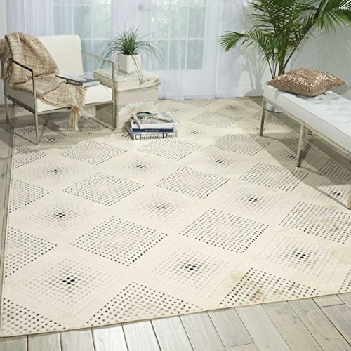 (Nourison Utopia (UTP08) Champagne Rectangle Area Rug, 7-Feet 9-Inches by 10-Feet 10-Inches (7'9