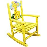 Teamson Kids - Safari Wooden Rocking Chair for Children - Giraffe