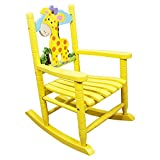 Teamson Kids - Safari Wooden Rocking Chair for Children - Giraffe