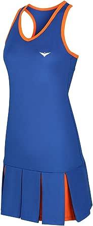 Bace Blue and Orange Pleated Dress Vestido de Tenis Niñas