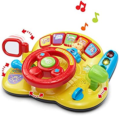 Amazon Com Vtech Turn And Learn Driver Frustration Free Packaging Yellow Toys Games