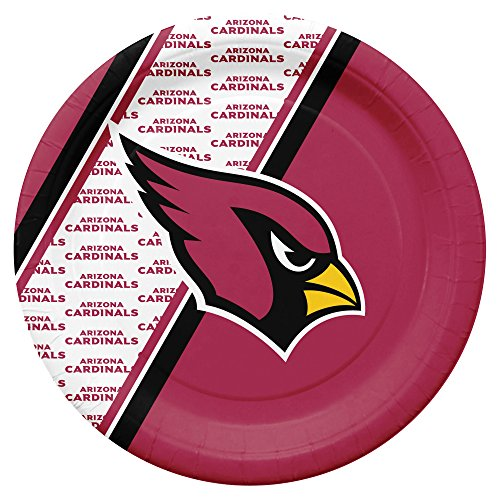 NFL Arizona Cardinals Disposable Paper Plates, Pack of 20 ()