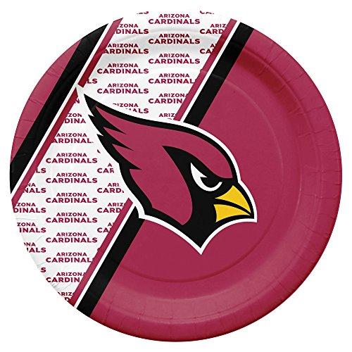 NFL Arizona Cardinals Disposable Paper Plates, Pack of - Display Cardinals Arizona