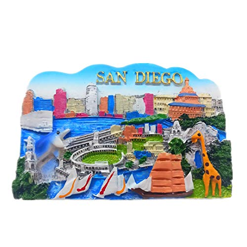 San Diego USA America 3D Refrigerator Fridge Magnet Travel City Souvenir Collection Decoration White Board Sticker Resin