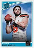 #4: Baker Mayfield 2018 Donruss Short Printed Mint RATED ROOKIE Card #303 Picturing this Top NFL Draft Pick in his White Cleveland Browns Jersey
