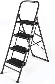 Paso Heces Familia Capa Metálica 2/3/4 Escalera Plegable Taburete Pequeño Función Interior Construcción (negro) (Tamaño : 4Steps): Amazon.es: Bricolaje y herramientas