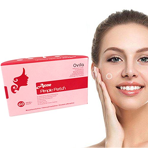Acne Cover Pimple Spot Patch - 60 Dots Hydrocolloid Absorbing Bandages, Drug-Free, Breathable Cover, Acne Spot Treatment for Face Skin Spot Patch Conceals Acne, 12mm