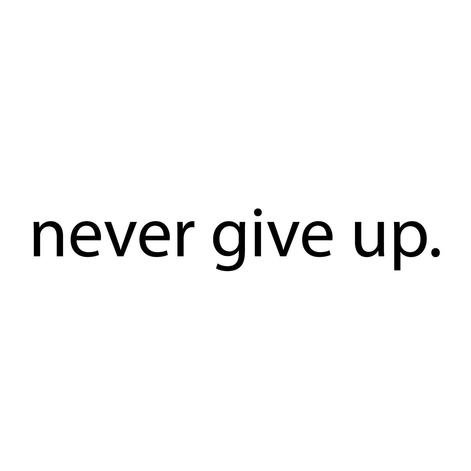 Never Give Up.. Over the Door Vinyl Wall Decal Sticker Art by Imprinted Designs (Image #4)