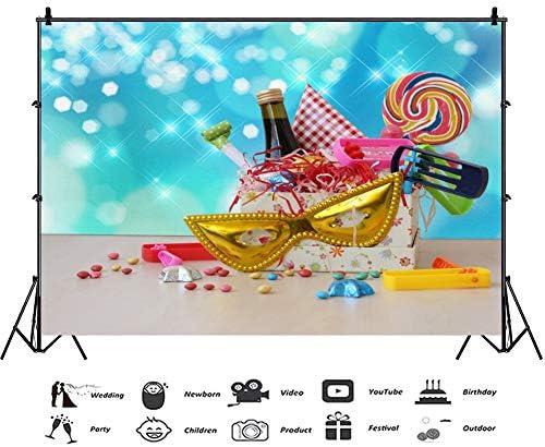 OERJU 8x6ft Cartoon Happy Purim Backdrop Feast Wine Pancakes Daisy Photography Background Jewish Carnival Holiday Decorations Purim Celebration Banner Kids Adults Holiday Portrait Photo Props