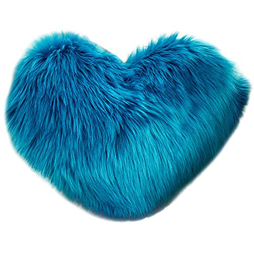 callm Pillow Case Heart Shaped Throw Pillows Covers Simple Fashion Plush Pillowcase Waist Throw Cushion Cover Case Hug Square Pillowcase Home Decor,Heart Shaped for $<!--$5.09-->