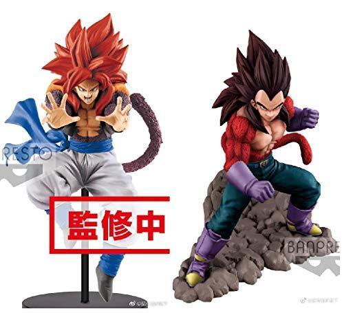 Banpresto Dragonball Z Dokkan Battle 4th Anniversary Super Saiyan 4 SS4 Vegeta & Dragon Ball GT Ultimate Fusion Big Bang Kamehameha! Figure Super Saiyan 4 SS4 Gogeta Set of 2 Toy Figure ()