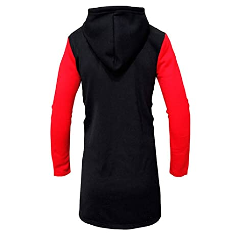 ZODOF Chaqueta Casual para Hombre Moda para Hombre con Capucha sólido Trench Coat Jacket Cardigan Manga Larga Outwear Blusa: Amazon.es: Ropa y accesorios
