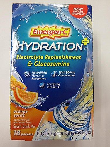 Emergen-C Hydration plus Sport Drink Mix, Orange Spritz, 18 Little Packets (Pack of (Hydration Spritz)