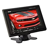 Pyle Headrest Monitor, 7-inch TFT LCD Widescreen w/ 2 Video Inputs, Wireless Remote, Cold Cathode Light, Headrest Shroud, Universal Stand Mount, Great for Road Trips, Keep Kids Entertained