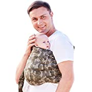 Mamaway Ring Sling Baby Wrap Carrier for Infant, Newborn, Toddler, Nursing Cover, Breastfeeding Privacy, Baby Holder, Breathable Fabric, 100% Cotton-Madagascar