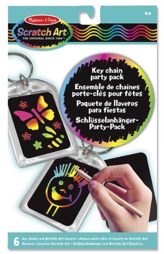 Melissa & Doug - 15921 - Scratch Art-Party Pack: Schlüsselanhänger
