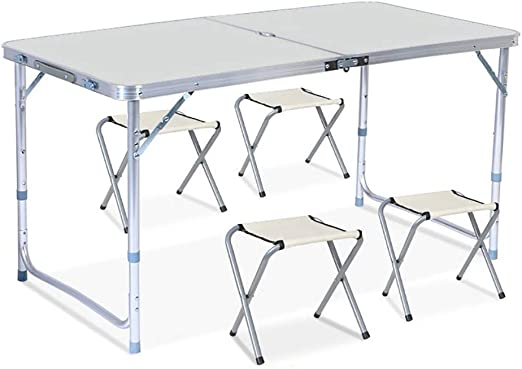Tavoli Pieghevoli In Alluminio.Tavoli Pieghevoli Top Pieghevole Rettangolare Telaio In Lega Di