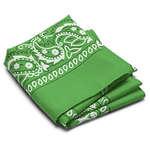 (12 Pack Assorted Bandanas made from 100% Cotton with Paisley Design, 22 X 22 Inches, Perfect for head ware, scarf, cowboys, and more!)