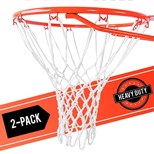 Ultra [2 Pack] Heavy Duty Basketball Nets – All Weather Anti Whip, Replacement for Standard Indoor or Outdoor Rims – White, 12 Loops