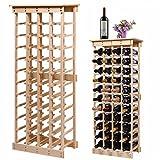 44 Bottles Wine Rack Modular Stackable Storage Pine Wood Display Shelves