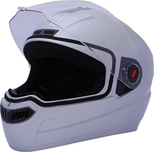 Steelbird Air SBA-1 Glossy Full Face Helmet (Silver, L)