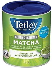 Tetley Super Green Tea Matcha: Green Tea with Pure Matcha, 20 Count