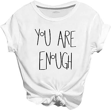 Linda Chica Camisetas de Mujer Tops de Camiseta T Shirt Mujer Camisetas de Manga Corta Delgada para Mujeres Cuello Redondo Blusa Estilo Coreano: Amazon.es: Ropa y accesorios