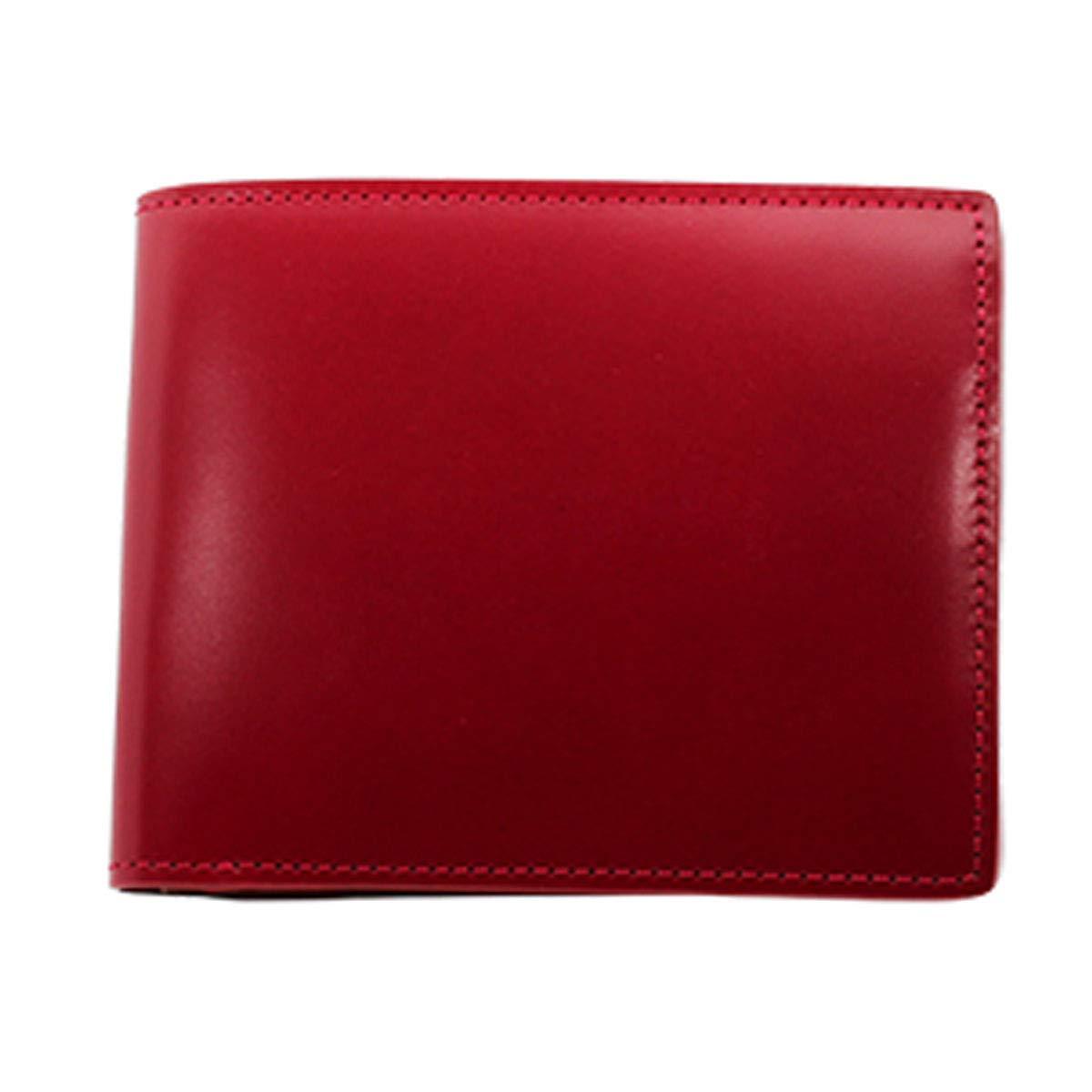 GREDEER コードバン 二折財布(小銭入付) B07MQJ6453 レッド