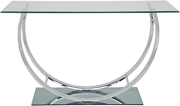 Amazon Com Coaster U Shaped Sofa Table Chrome Kitchen Dining