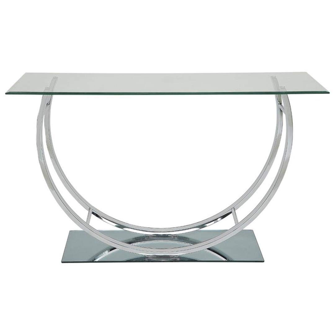 Coaster 704989-CO Glass Top Console Table, Chrome by Coaster Home Furnishings