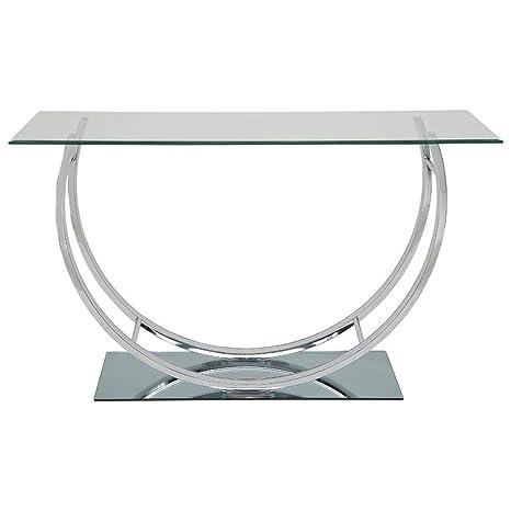 Amazon.com: Coaster Furniture - Mesa de cristal para sofá ...