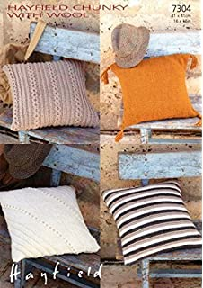 Sirdar 7304 Knitting Pattern Cushion Covers To Knit In Hayfield Chunky With  Wool