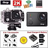 GitUp GIT2 Pro 2K Action Camera with GoPro / SJCam Accessories(Pro Edition) 1.5-Inch LCD (Black)