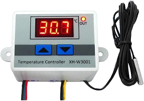 220V 10A Digital LED Thermostat Controller Switch Temperature Controller w//Probe