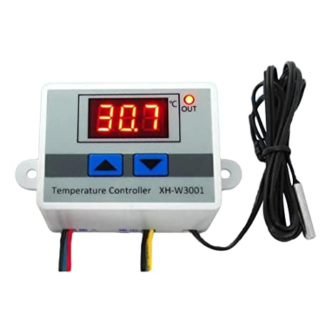 Interruptor de termostato digital LED de 12 V/220 V con sonda y controlador de