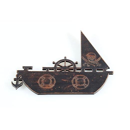 gtnine barco pirata imitación madera imanes imanes para nevera ...